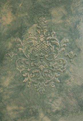 Декоративная краска Замша (Трафарет)